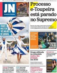 capa Jornal de Notícias de 22 fevereiro 2020