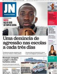 capa Jornal de Notícias de 23 fevereiro 2020
