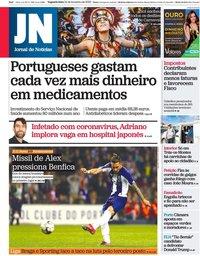 capa Jornal de Notícias de 24 fevereiro 2020