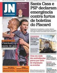 capa Jornal de Notícias de 25 fevereiro 2020