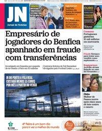 capa Jornal de Notícias de 26 fevereiro 2020