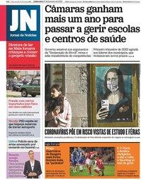 capa Jornal de Notícias de 27 fevereiro 2020