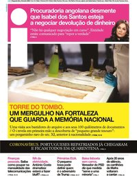 capa Jornal i de 3 fevereiro 2020