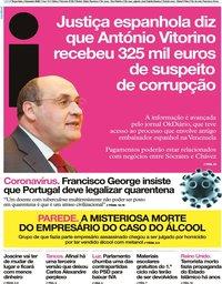 capa Jornal i de 4 fevereiro 2020