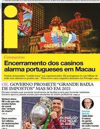 capa Jornal i de 5 fevereiro 2020