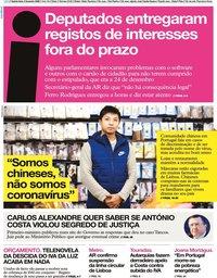 capa Jornal i de 6 fevereiro 2020