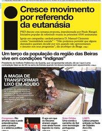 capa Jornal i de 10 fevereiro 2020