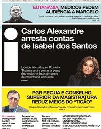 capa Jornal i de 12 fevereiro 2020