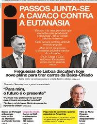 capa Jornal i de 13 fevereiro 2020