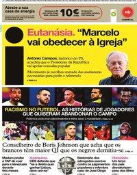 capa Jornal i de 18 fevereiro 2020