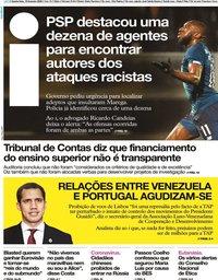capa Jornal i de 19 fevereiro 2020