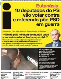 capa Jornal i de 20 fevereiro 2020