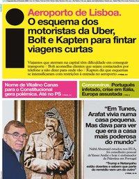 capa Jornal i de 24 fevereiro 2020