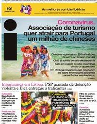 capa Jornal i de 25 fevereiro 2020