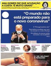 capa Jornal i de 26 fevereiro 2020