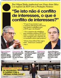 capa Jornal i de 27 fevereiro 2020