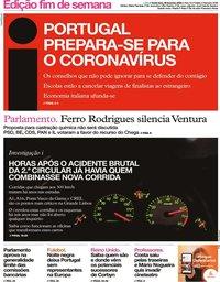 capa Jornal i de 28 fevereiro 2020