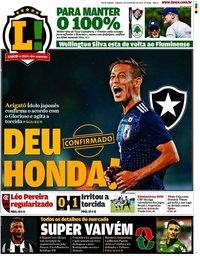 capa Jornal Lance! Rio de Janeiro de 1 fevereiro 2020
