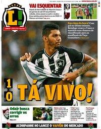 capa Jornal Lance! Rio de Janeiro de 3 fevereiro 2020