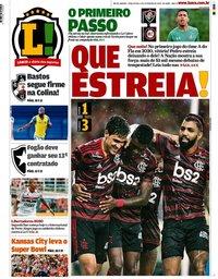 capa Jornal Lance! Rio de Janeiro de 4 fevereiro 2020