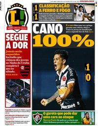 capa Jornal Lance! Rio de Janeiro de 6 fevereiro 2020
