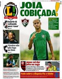 capa Jornal Lance! Rio de Janeiro de 7 fevereiro 2020