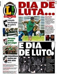 capa Jornal Lance! Rio de Janeiro de 8 fevereiro 2020
