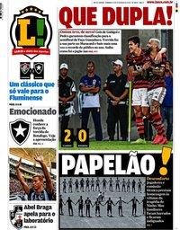 capa Jornal Lance! Rio de Janeiro de 9 fevereiro 2020