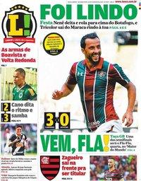 capa Jornal Lance! Rio de Janeiro de 10 fevereiro 2020