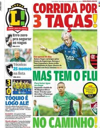 capa Jornal Lance! Rio de Janeiro de 11 fevereiro 2020