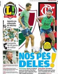 capa Jornal Lance! Rio de Janeiro de 12 fevereiro 2020