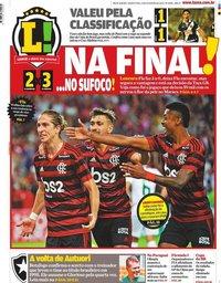 capa Jornal Lance! Rio de Janeiro de 13 fevereiro 2020