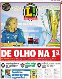 capa Jornal Lance! Rio de Janeiro de 16 fevereiro 2020