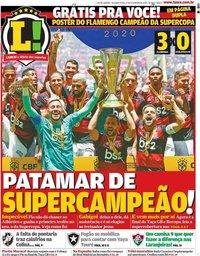 capa Jornal Lance! Rio de Janeiro de 17 fevereiro 2020