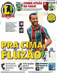 capa Jornal Lance! Rio de Janeiro de 18 fevereiro 2020