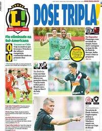 capa Jornal Lance! Rio de Janeiro de 19 fevereiro 2020