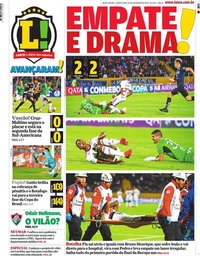 capa Jornal Lance! Rio de Janeiro de 20 fevereiro 2020