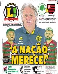 capa Jornal Lance! Rio de Janeiro de 22 fevereiro 2020