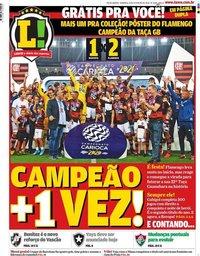 capa Jornal Lance! Rio de Janeiro de 23 fevereiro 2020