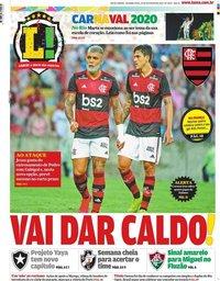 capa Jornal Lance! Rio de Janeiro de 24 fevereiro 2020