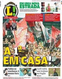 capa Jornal Lance! Rio de Janeiro de 26 fevereiro 2020