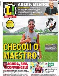 capa Jornal Lance! Rio de Janeiro de 28 fevereiro 2020
