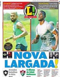 capa Jornal Lance! Rio de Janeiro de 29 fevereiro 2020