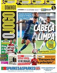 capa Jornal O Jogo de 2 fevereiro 2020