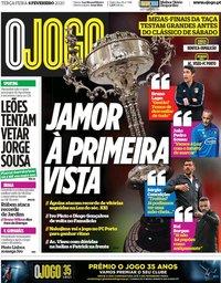 capa Jornal O Jogo de 4 fevereiro 2020