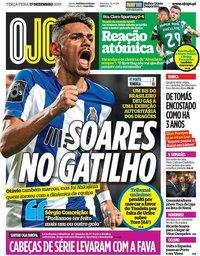 capa Jornal O Jogo de 6 fevereiro 2020