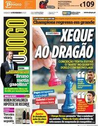 capa Jornal O Jogo de 8 fevereiro 2020