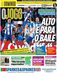 capa Jornal O Jogo de 9 fevereiro 2020