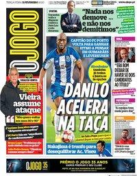 capa Jornal O Jogo de 11 fevereiro 2020