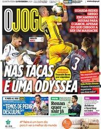 capa Jornal O Jogo de 12 fevereiro 2020